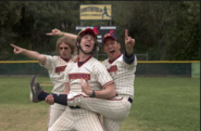 Benchwarmers cheering