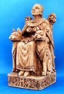 Freya-statue-seated-cats-wood-finish-DD-165FYAW