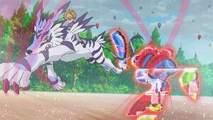 Garurumon destory Giant Puppet Digimon