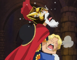 Luffy hugging Sabo