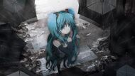 Hatsune Miku Vocaloid anime girl music Megurine Luka video game beauty beautiful lovely sweet cute humanoid green hair tail long character 2048x1152