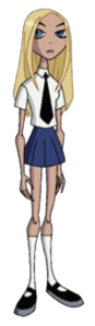 Terra in her School Uniform