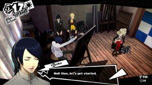 Yusuke paints Ann