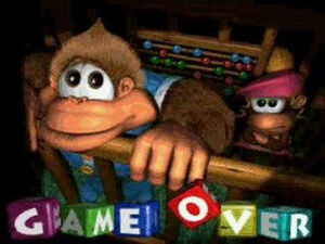 Donkey Kong Country 3 Dixie Kong's Double Trouble Game over
