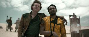 Han Solo and Lando Solo film