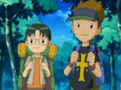Kazu and Kenta in Forest.