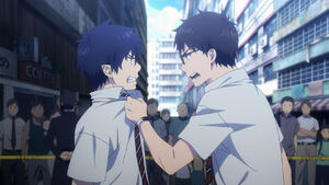 Rin and Yukio get mad