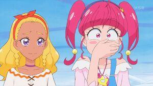 STPC24 Hikaru tries not to laugh at Yukio's joke