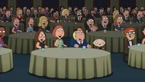 "Quahog citizens in ""Roasted Guy"""