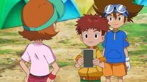 Sora, Koshiro and Taichi at Summer Camp