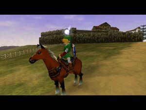 Zelda OOT Link and Epona