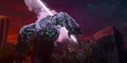 Hunter Vertigo freezing a Kaiju