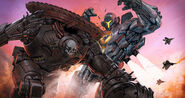 Early Gipsy Avenger Vs Gangster Jaeger by Francisco Ruiz Velasco