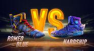 Romeo Blue vs Hardship Sneakers