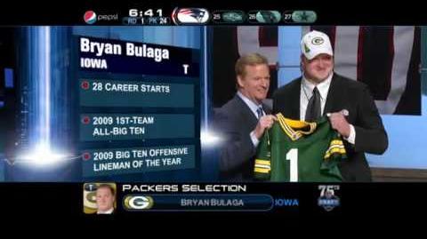 2010 NFL Draft -- Green Bay Packers (23) -- Bryan Bulaga, OT, Iowa