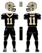 Saints color uniform
