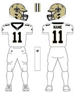 Saints white uniform