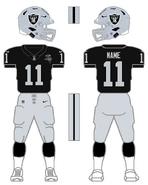 Raiders color uniform