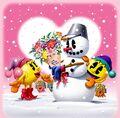 Pacman-mspac-snowman