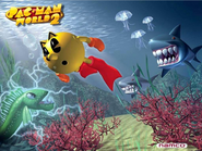 Pac-Man World 2 Ocean Promo Image