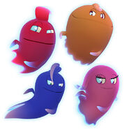 Inky, Pinky, Blinky, and Clyde (Pac-Man and the Ghostly Adventures Official Render)