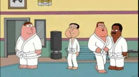 Family Guy Joe's gone mad in dojo