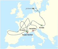 Cimbrians invasions