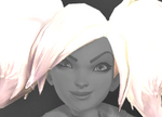 Evie Head Black Ice Pigtails Icon.png
