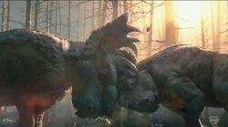 Pachyrhinosaurus Fight Patchi vs Scowler