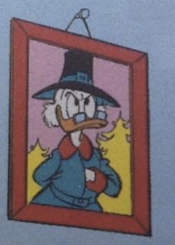 Il ritratto di Paperonacchio in possesso di Paperone