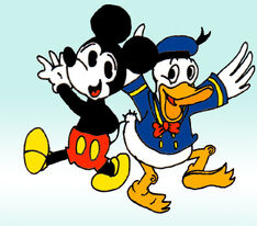 The old Mickey and Donald