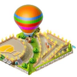 Ballon launch platform