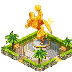Defender golden monument