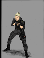 Vicky in uniform