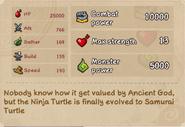 Samurai Turtle stats lv10
