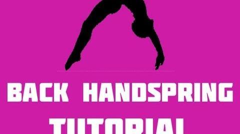 How to do a back handspring tutorial Part 2-0