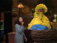 Big Bird falls asleep after singing himself a lullaby at the end of episode 1582