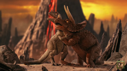 Early Man Surprised Dinos