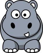 Hippopotamuses and rhinoceroses