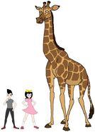 Riley and Elycia meets Rhodesian Giraffe