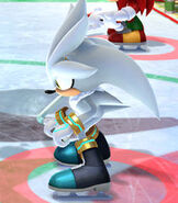 Silver the Hedgehog in Mario and Sonic at the Sochi 2014 Olympic Winter Games
