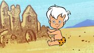 The Flintstones & WWE - Stone Age SmackDown! - Bamm-Bamm with a Sand Castle