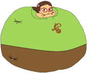 Amaya dressed up as Greg Inflated