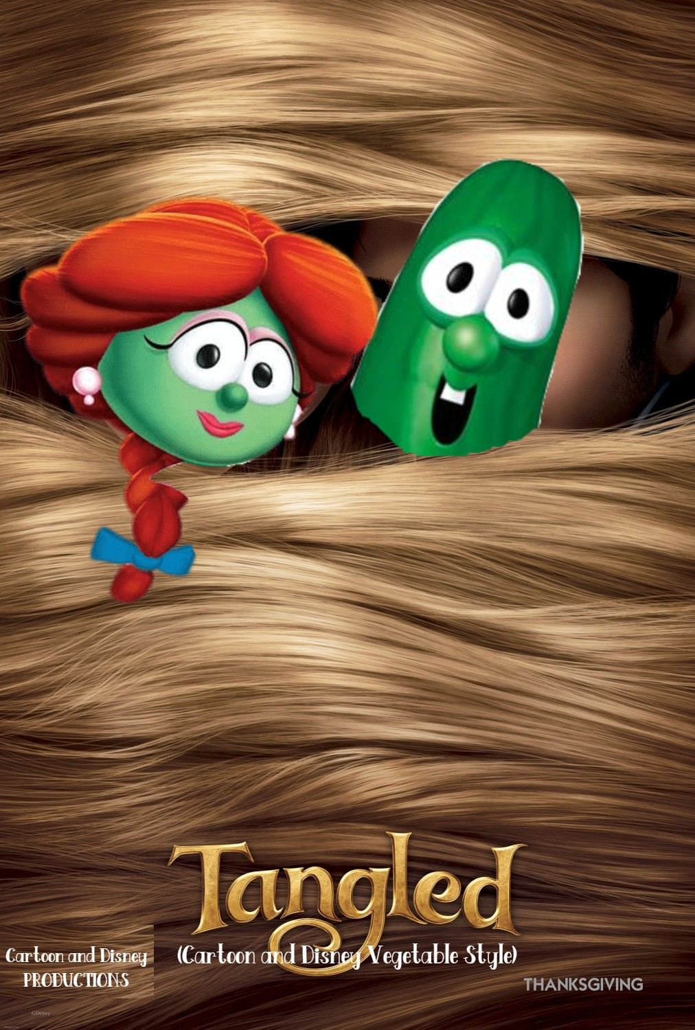 Tangled (Cartoon and Disney Vegetable Style)