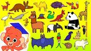 Aardvark Baboon Camel Deer Echidna Egret Fox Giraffe Hyena Ibis Jackal Kangaroo Llama Mole Narwhal Otter Panda Penguin Quetzal Rattlesnake Seahorse Tapir Umbrella Bird Vampire Bat Woodpecker Xiphusoran Yorkshire Terrier Zebu Zebra
