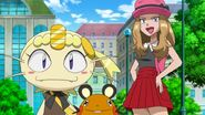 Meow to and Jessie impersonating Bonne and Serena
