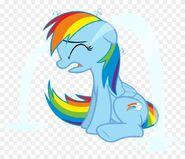 Rainbow dash with ocular gusher