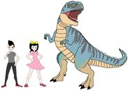 Riley and Elycia meets Megalosaurus
