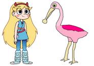 Star meets Spoonbill