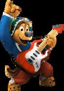 Bodi rock dog playing guitar 1